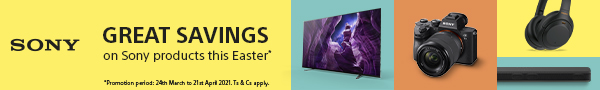 Great Savings on Sony this Easter