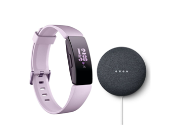 Fitbit Inspire HR with a Free Google Nest Mini