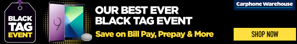 Black Tag Deals Carphone Warehouse