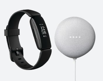 Fitbit Inspire and Google Home Nest