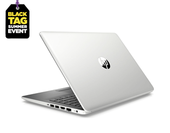 HP 14 inch laptop in silver
