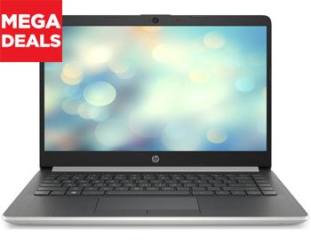 14 HP laptop with AMD Ryzen 3 processor with 128 GB SSD storage