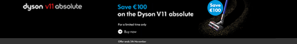 Save €100 of the Dyson v11