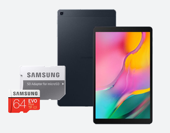 Samsung tablet and memory card bundle